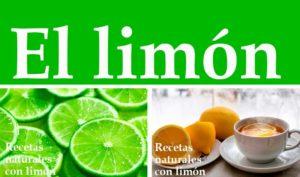 Recetas naturales con limón